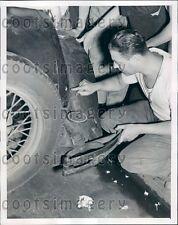 1939 Bullet Hole in Car Payroll Holdup New York City Press Photo