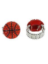 Handmade bling basketball ring/ silver plated
