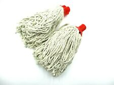 More details for cotton mop heads plastic socket 160g red push fit swift professional