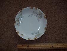 "Haviland France Limoges Saucer /Dessert Plate - blue flowers, white, gold 5-1/4"""