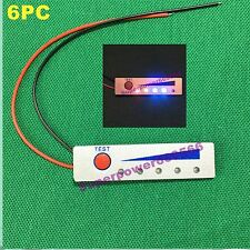 6PC 12V 3S Li-ion battery LED LEVEL voltage monitor meter indicator water proof