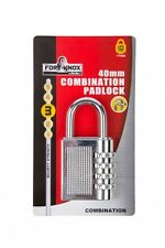Fort Knox 40mm Combination Padlock 4 Digit Steel Padlock Re-Settable Number
