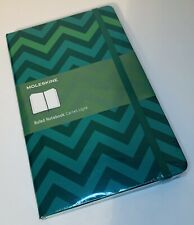 NEW Moleskine LIMITED CHEVRON Notebook/Journal, Hardcover, Lined, Green, L