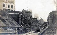 CPA 59 CARTE PHOTO TOURCOING PONT NATIONAL 1918 (CLICHE PAS COURANT