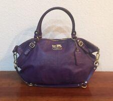 COACH Madison Sophia Large PURPLE Leather Slouch Purse Bag 15955