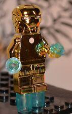 Custom made for LEGO blocks 1b GOLD CHROME Iron-Man Mark 21 Midas Superheroes