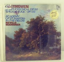 BEETHOVEN SYMPHONY NO. 4 NEVILLE MARRINER PHILIPS STEREO 9500-033 LP NETHERLANDS