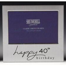"Happy 40th Birthday Gift Present Photo Frame 5 x 3.5"" Men Ladies Male Female"
