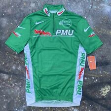 BNWT Vintage Nike PMU green cycle cycling jersey top M Tour de France 2000 New