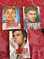 Nip and used dexter dvd lot seasons  1 2 3 lot no reserve movie series