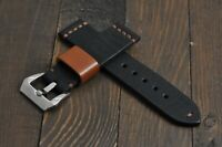 Handmade Leather Watch Strap Genuine Leather Band Thick 18 20 21 22 24 26mm