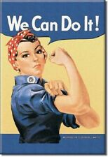 ROSIE THE RIVETOR, WE CAN DO IT! Retro Vintage Tin Sign Magnet Made in USA