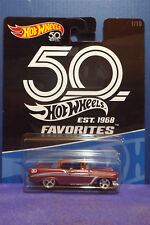 Hot Wheels 2018 50th Anniversary Favorites '56 CHEVY No. 1/10. Long card.