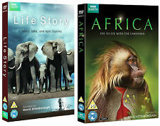 DAVID ATTENBOROUGH AFRICA + LIFE STORY Collection 5 Discs BBC Earth (NEW DVD R4)