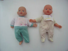 2 x TWIN MY FIRST BABY BORN BAMBOLA / abiti / ZAPF-Blue Eyes
