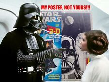 1978 Star Wars Darth Vader 3D Poster Wall Art Fundimensions NOS Sealed Free Ship