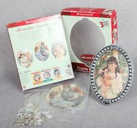 American Girl Samantha 3 Jigsaw Puzzles + Oval Frame MO949 Sells Without Box