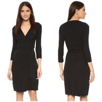 Diane Von Furstenberg Black Wrap Dress Size 12 New Julian Two Style