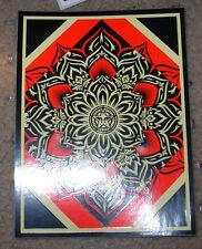 "SHEPARD FAIREY Obey Giant Sticker 4 X 5.5"" LOTUS DIAMOND from poster print"