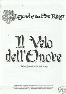 LEGENDS OF THE FIVE RINGS IL VELO DELL'ONORE (21st Century Games, 1997)