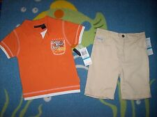 Calvin Klein Outfit Top Shorts Infant Baby Boys 2pc Short Set Sz 24 Mos  NWT