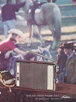 VINTAGE AD SHEET #2873 1970s TOSHIBA - THE BARCELONA PORTABLE 2-1 RADIO