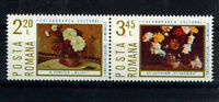 RUMANIA/ROMANIA 1975 MNH SC.2545/46 Flowers Paintings