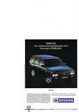 PUBLICITE  1991   NISSAN    TERRANO 4X4