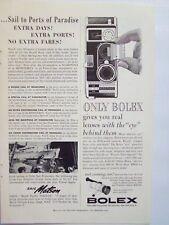1960 Bolex Movie Camera Lenses Magazine Print Advertisement Page