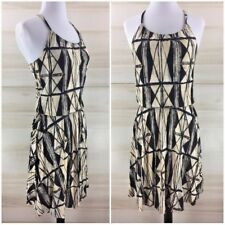 Banana Republic black white geometric tribal boho chic tunic dress casual S