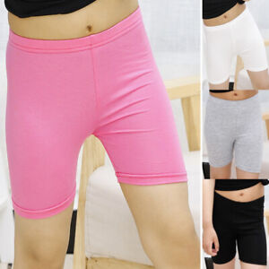 Kids Girls Safety UnderPants Shorts Short Dress Underpants Comfy Solid Leggings