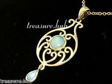PE039 - EXQUISITE 9ct Yellow Gold SOLID Natural Opal VICTORIAN insp. Pendant