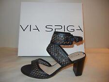 Womens Shoes - Via Spiga - V-Weslyn, Black LE High Heel Sandal - Size 8M - NWB