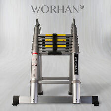 WORHAN® 5m Telescopic Foldable Extendable Multipurpose Ladder Aluminum rings AK5