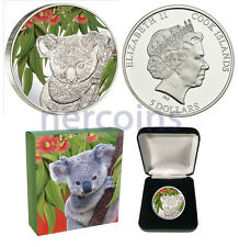 Cook Islands 2011 Koala Eucalyptus Scents of Australia $5 Silver Coin Perfect
