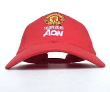 Manchester United Tour 2015 AON Red Baseball Cap Hat Adj Men's Cotton