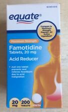 Famotidine Max Strength Acid Reducer Tablets, 20mg - 200 Count Equate Brand