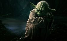 Yoda Master Jedi Star Wars Fabric Art Cloth Poster 21inch x 13inch Decor 3