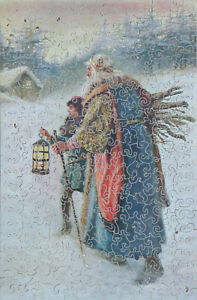 Vintage 273 piece Lucilla wooden jigsaw puzzle. King Wencelus/Wenceslas