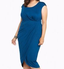 Torrid Tulip Jersey Midi Dress Blue 2X 18 20 2 #44346