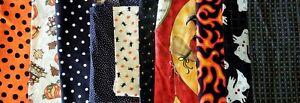 Halloween Fabric Lot 10PCS 13oz All Older Junk Journals Tags Quilting Pumpkins