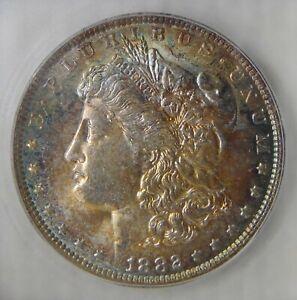 MS62 ~ 1882 O Morgan Silver Dollar, MONSTER RAINBOW TONING!