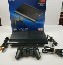 Sony Playstation 3 Super Slim PS3 500GB Black Console Open Box FULLY TESTED