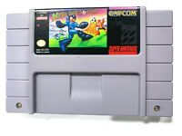 Mega Man Soccer SUPER NINTENDO SNES Game Tested + Working & Authentic!