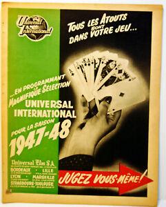 Saison 1947 / 48 - UNIVERSAL INTERNATIONAL - Edition luxe - 8 pages  Cartoline