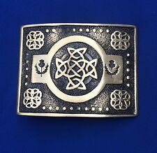 Da Uomo Kilt Fibbia della Cintura Nodo Celtico lavoro finitura anticata/celtica swirl fibbie per cintura