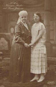Queen Wilhelmina with Her Daughter Princess Juliana Portrait Royalty RPPC B51