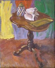 Louis PEYRÉ (1923-2012) HsT Guéridon Jeune Peinture Nouvelle Ecole de Paris
