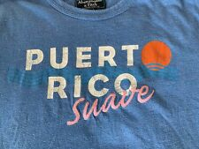 "Abercrombie & Fitch ""Puerto Rico Suave"" Muscle Short Sleeve T-Shirt Mens XL Blue"