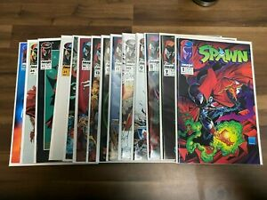 (14x) Spawn comic book lot #1 7 8 9 10 11 12 13 14 17 21 22 24 25